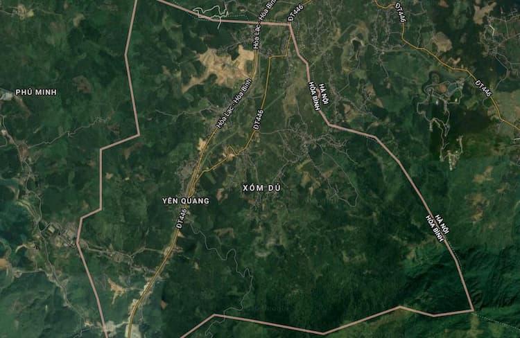 Vị trí Map xã Yên Quang