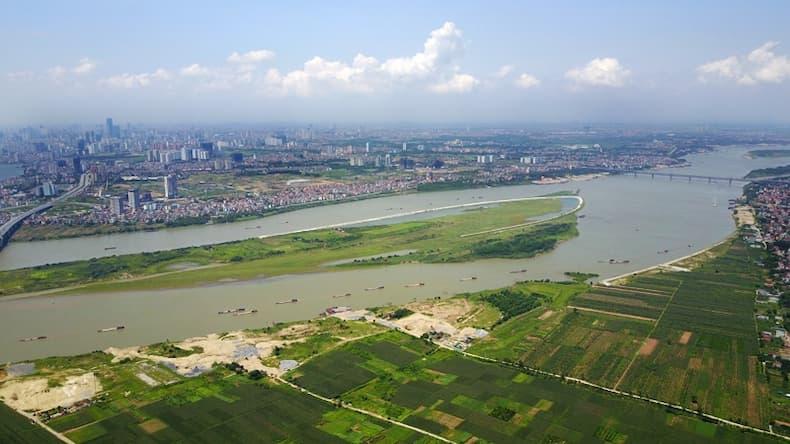 giá đất nen sông hồng tăng gấp 200%