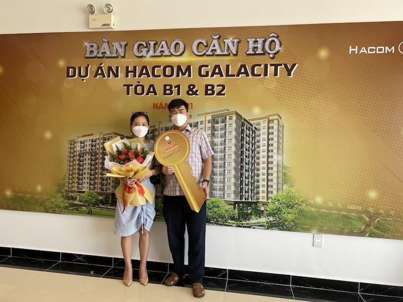 cư dân đầu tiên nhận bàn giao căn hộ hacom galacity